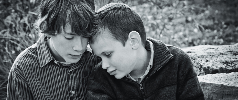 Brothers--a special bond. (Autism)